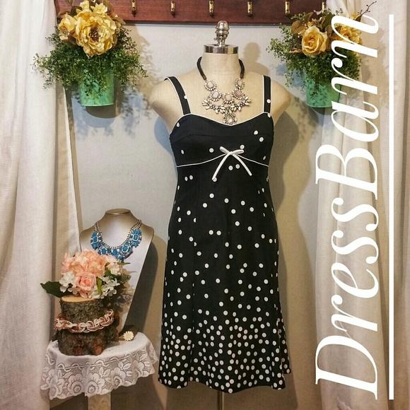 1304e4839575 dressbarn Dresses   Black And White Polkadot Sundress 10   Poshmark